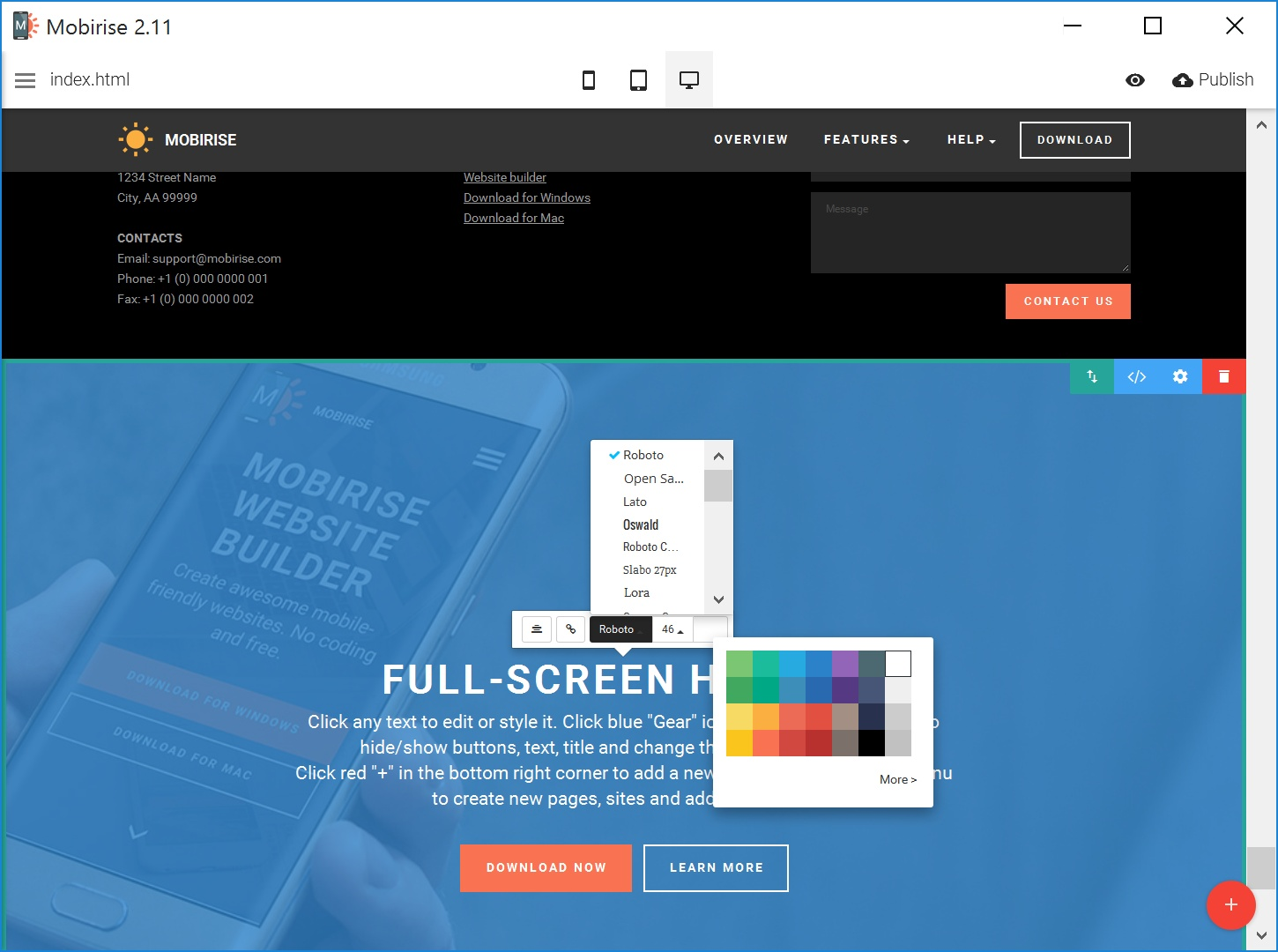 Quick Drag and Drop Web Page  Builder Software