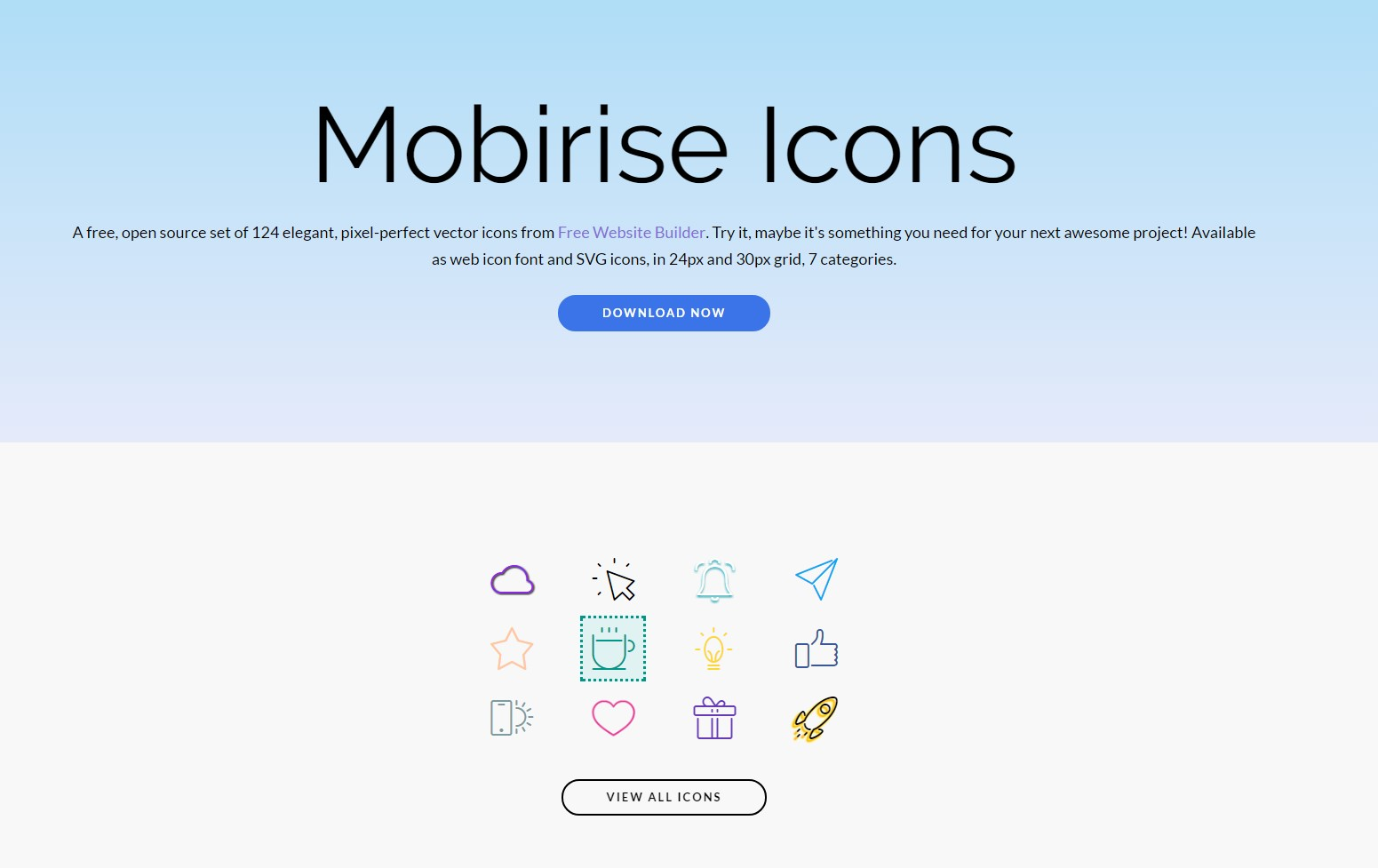 mobirise icons package