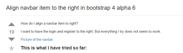 Adjust navbar item to the right  within Bootstrap 4 alpha 6