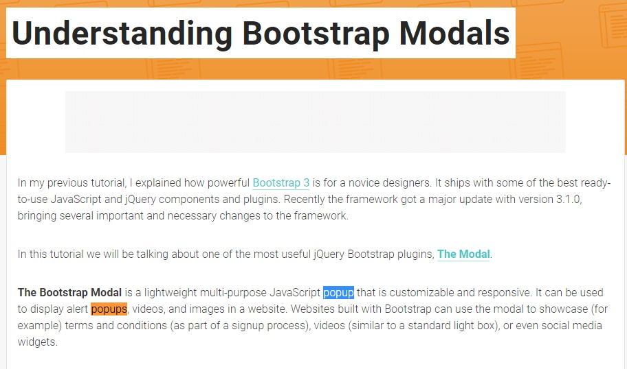 Yet another  valuable  content about Bootstrap Modal Popup