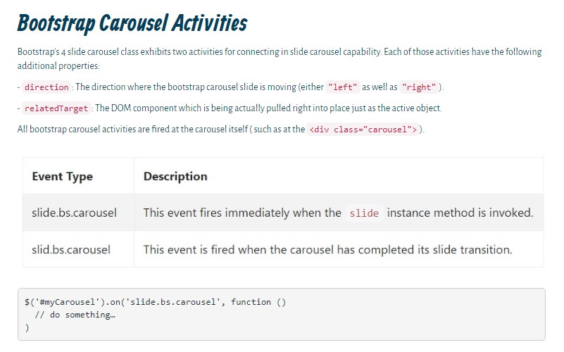 Carousel Bootstrap 4