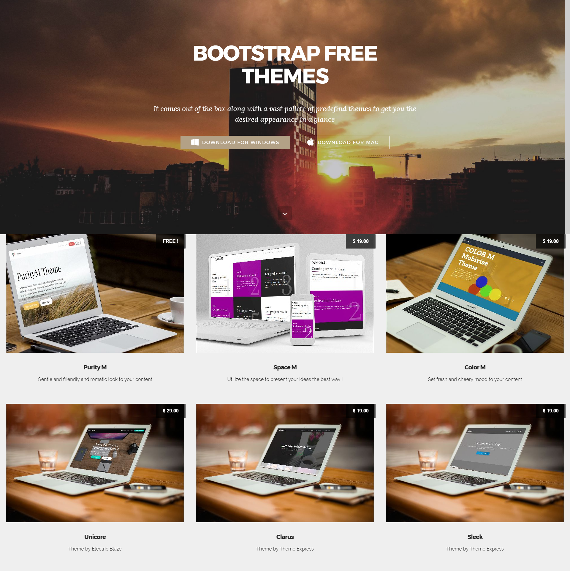 Responsive Bootstrap Mobile-friendly Templates