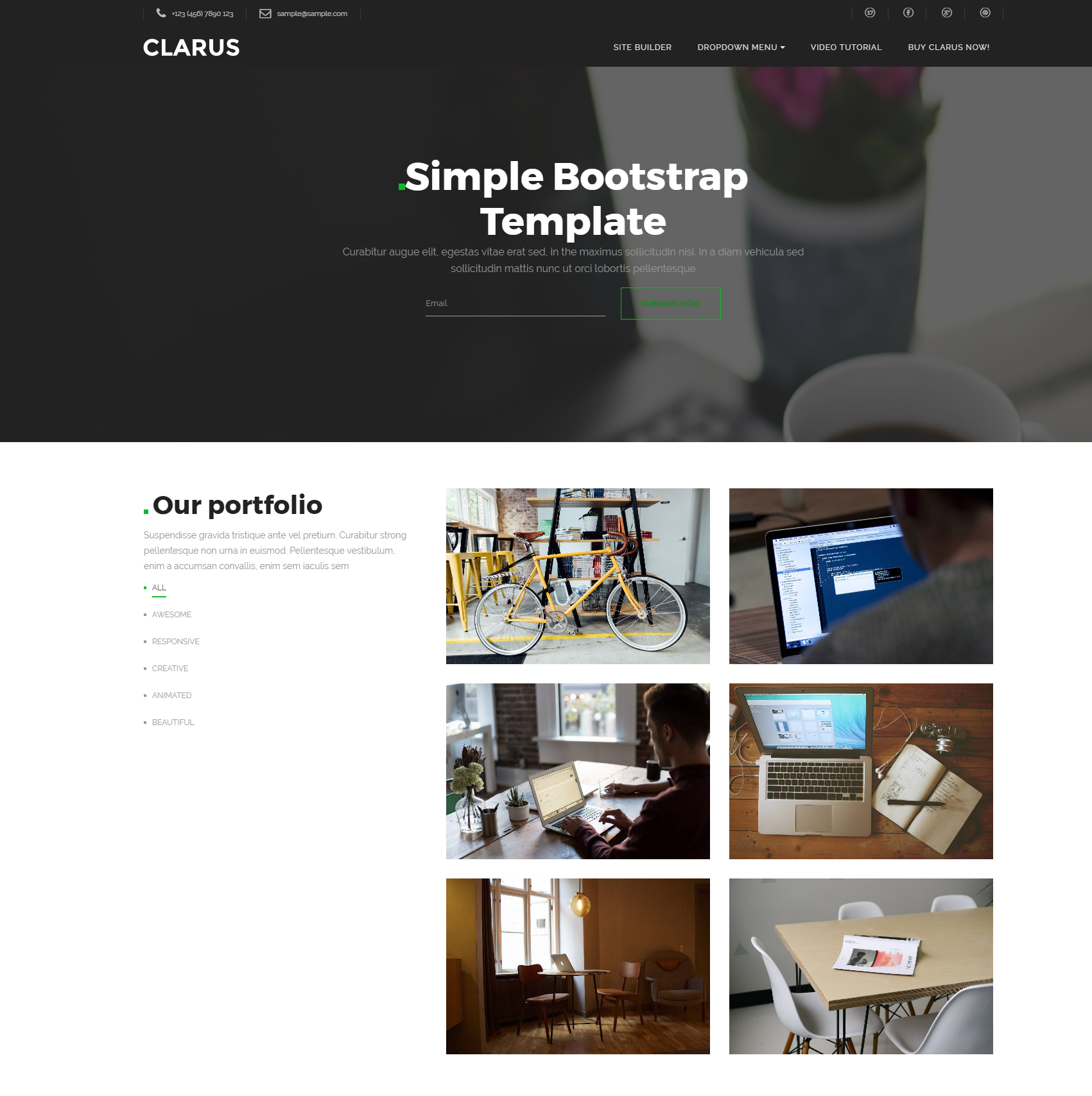 Free Download Bootstrap Simple Themes
