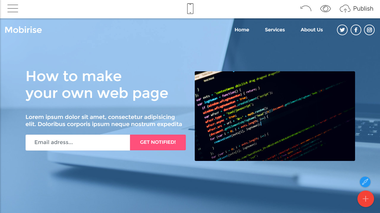 how to build a web page