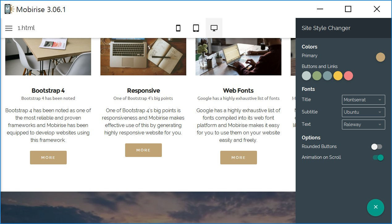 HTML Responsive Web Page Maker