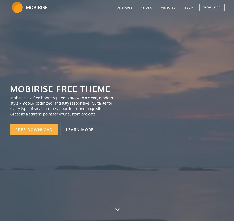 HTML Bootstrap Blank Theme