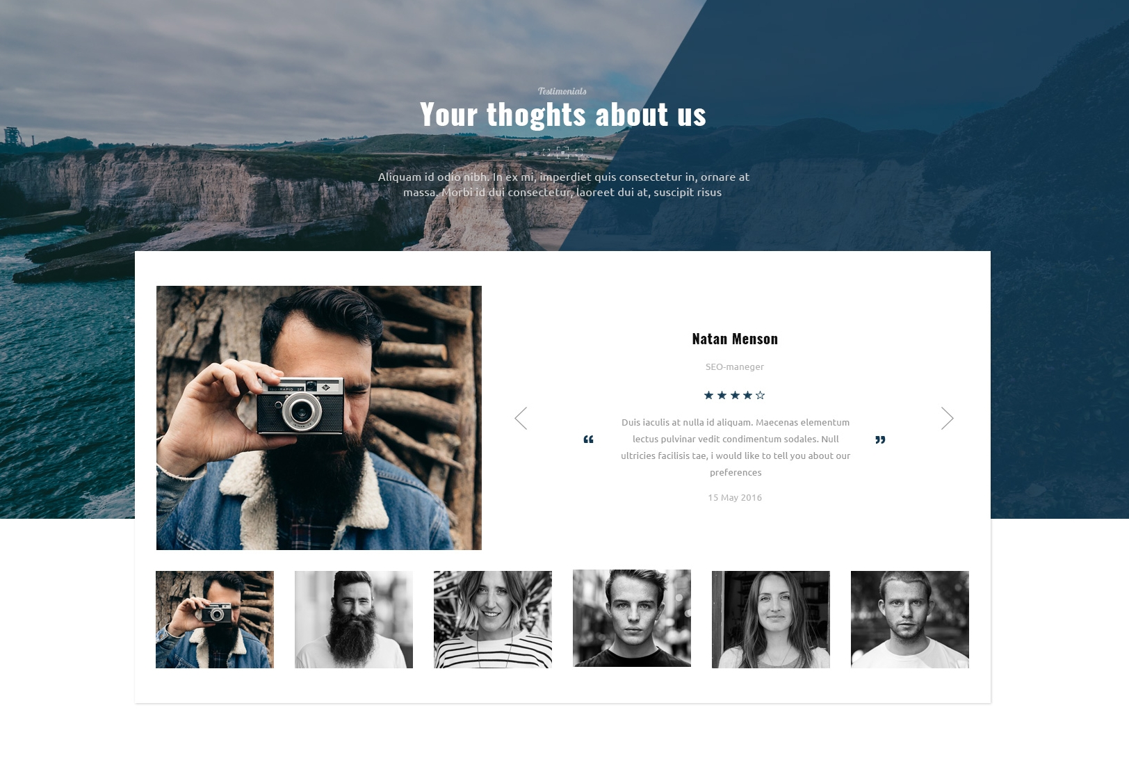 Responsive Bootstrap Image Gallery Theme