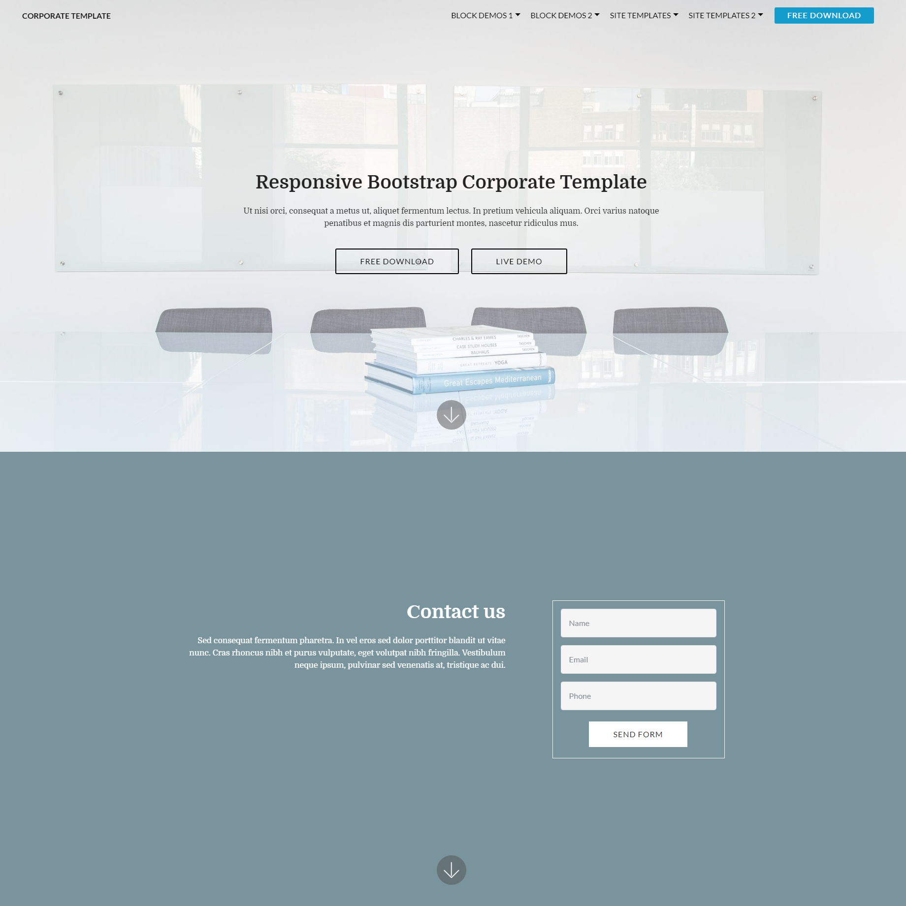 CSS3 Bootstrap Corporate Themes