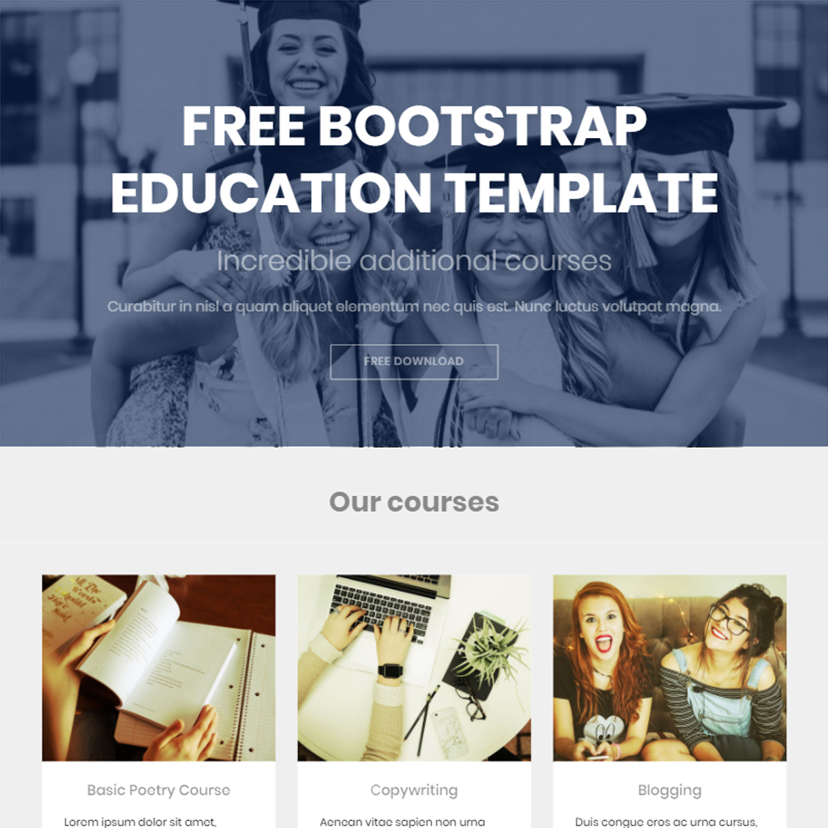 CSS3 Bootstrap Education Themes