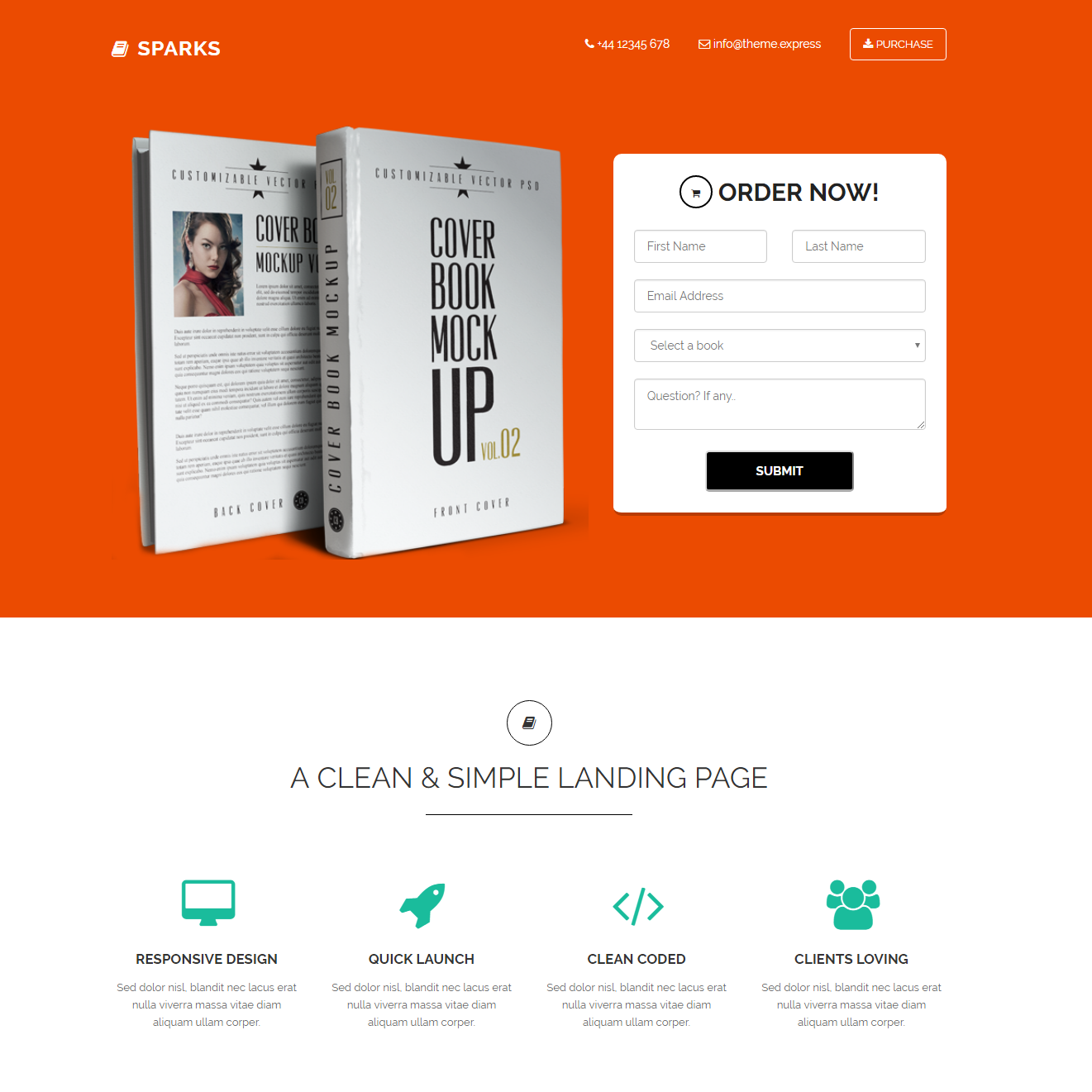 Responsive Bootstrap Sparks Themes