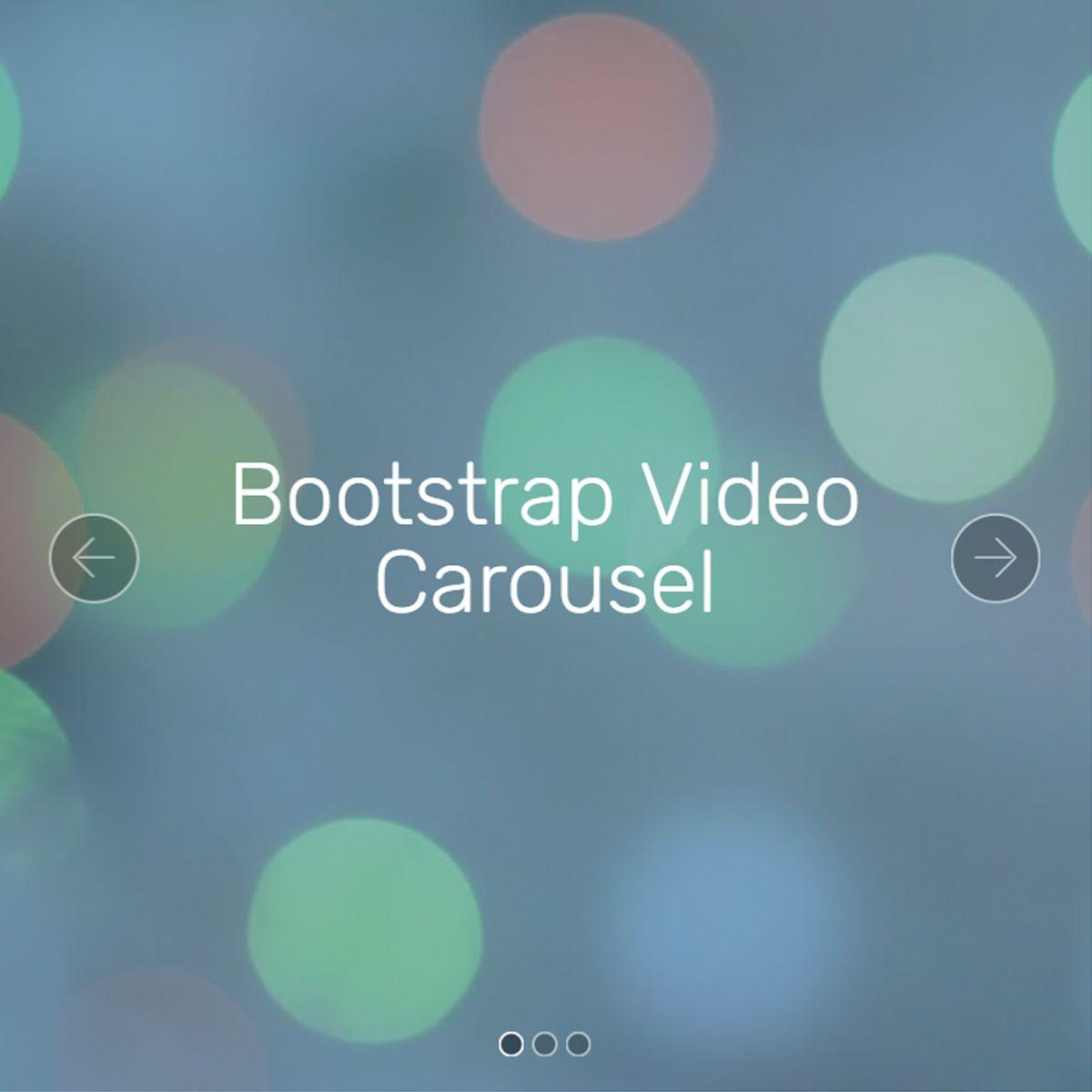 Responsive Bootstrap Illustration Carousel