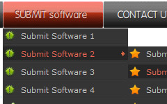 Javascript menu sample. Web menu how to.
