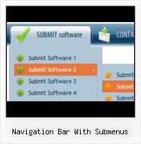 Navigation Bar With Submenus  Web Menu How To